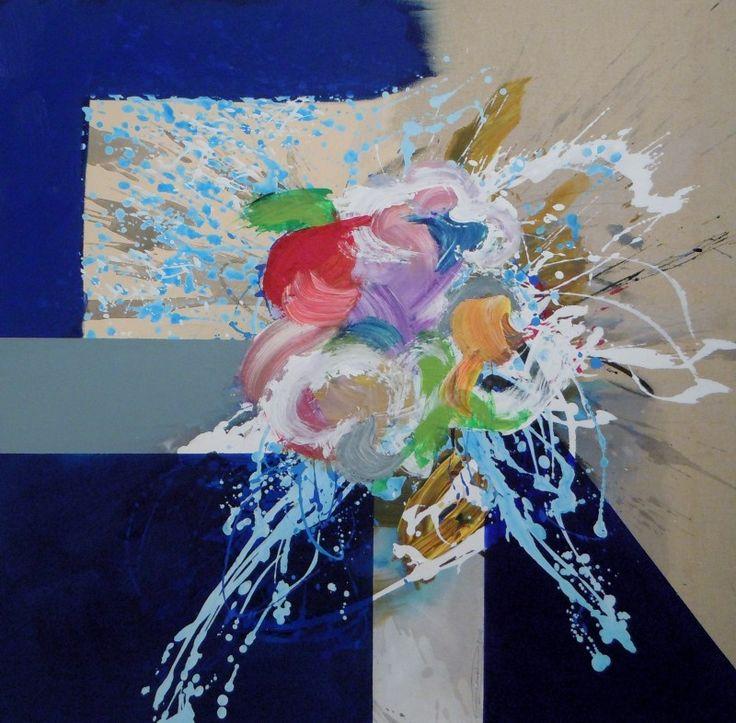 Floralies - acrylique sur toile (90x90cm) 2014