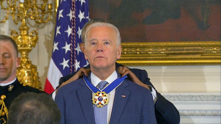 """To know Joe Biden is to know love without pretense,"" Mr. Obama said of Biden at the surprise ceremony Thursday"