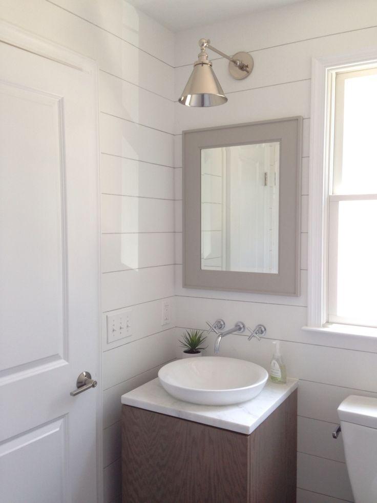 Beach House Mudroom Powder Room Bathroom Shiplap Pottery