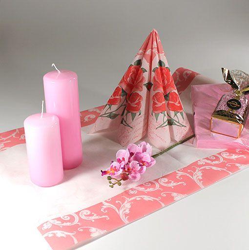 Romantisk, rosa borddækning  #RomantiskMiddag #RomantiskBorddækning