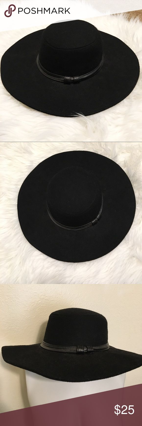 "Kendall & Kylie Wide Brim Hat Wide brim slightly floppy hat. Perfect Fall/Spring accessory! Features a leather band with 2 knots. EUC. See Tag for fabric content. Brim measures 4"", hat is 4"" deep with a 21.3"" circumference for your head. Kendall & Kylie Accessories Hats"