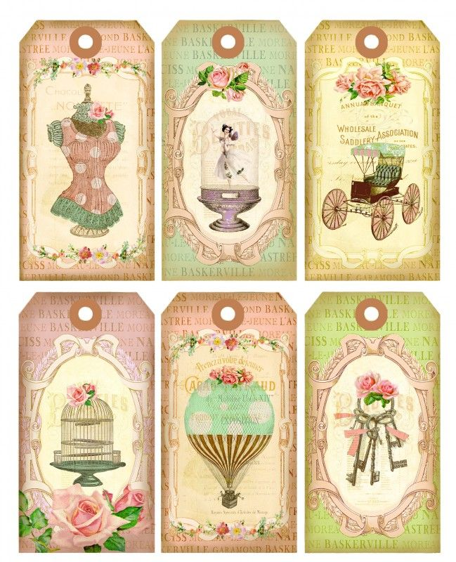 Shabby chic tags