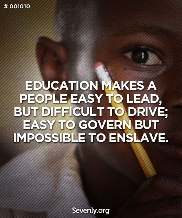 African Inspiration Quotes: Black African School Child