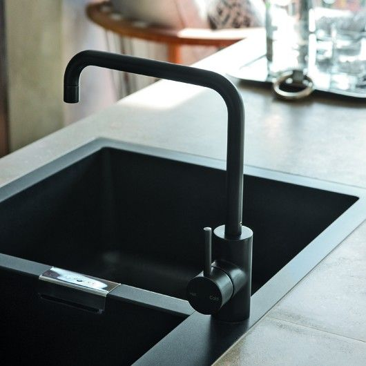 Matte Black Kitchen Tap ... This could make even filling a pot to boil mac & cheese feel important and chic
