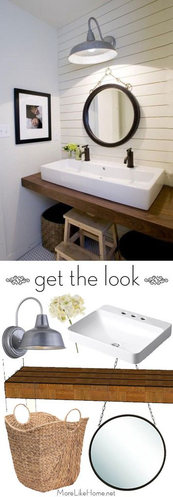 Get this look with a DIY vanity bar plus a few key design details. Free building plans included!