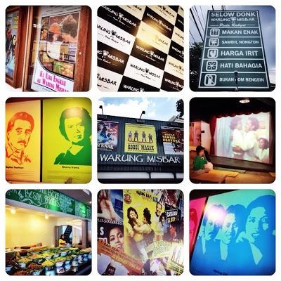 Misbar (gerimis bubar) - an old Indonesian movies themed canteen at Jl. Riau Bandung