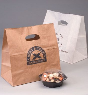 Really nice takeout bags - the handle provides a better user experience and stability