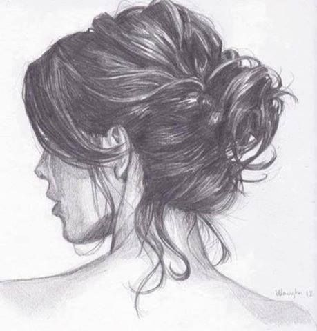 Hair drawing // okay but my messy bun will never be this perfect