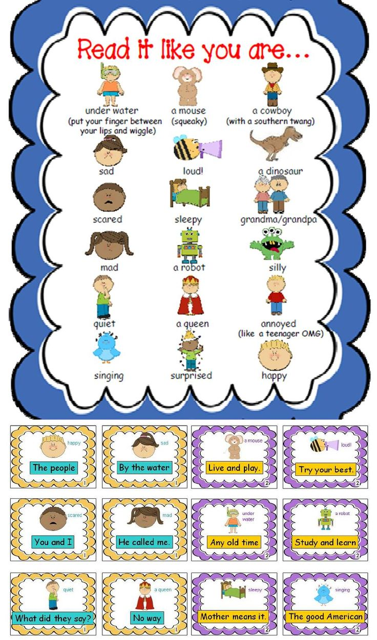 Silly Fluency Workshop - Kids get to read sight word phrases like dinosaurs, cowboys, and many other characters. FUN!!