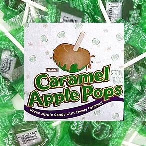 carmel apple pops sucker candy.my absolute favorite candy!