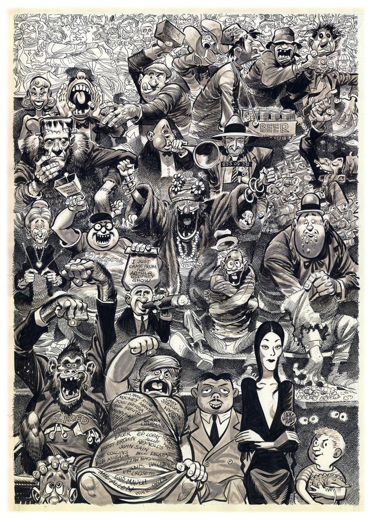 jack davis Most famous for his masterful caricature work for mad magazine, tv guide, time  magazine and many others, jack davis will always have a sticky place in the.