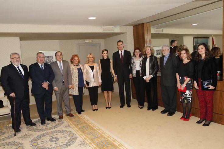 Don Felipe y Doña Letizia acompañados de los vocales del Patronato de la Fundación Víctimas del Terrorismo Auditorio Nacional de Música. Madrid, 10.03.2016