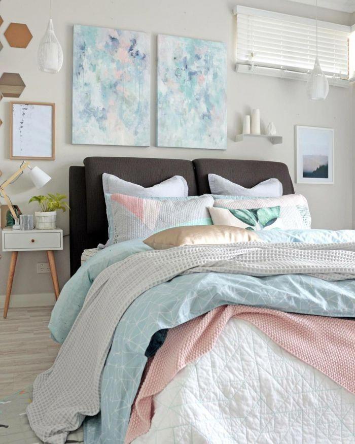 Dormitorio De Matrimonio Bonita Combinacion De Colores Pastel Paredes En Colores Para Habitaciones Colores Para Dormitorio Cuadro Para Dormitorio Matrimonial