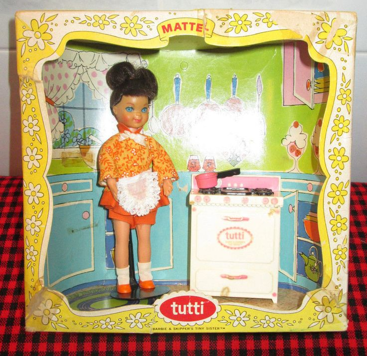 EXTREMELY RARE~1967 Barbie~TUTTI~COOKIN`GOODIES~~COMPLETE BOXED SET~3559~NoCello #Mattel #DollswithClothingAccessories