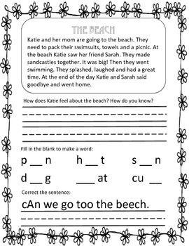 1st grade summer packet pdf