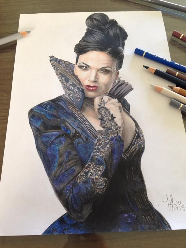 Another amazing evil queen Regina drawing by snowiner on ...