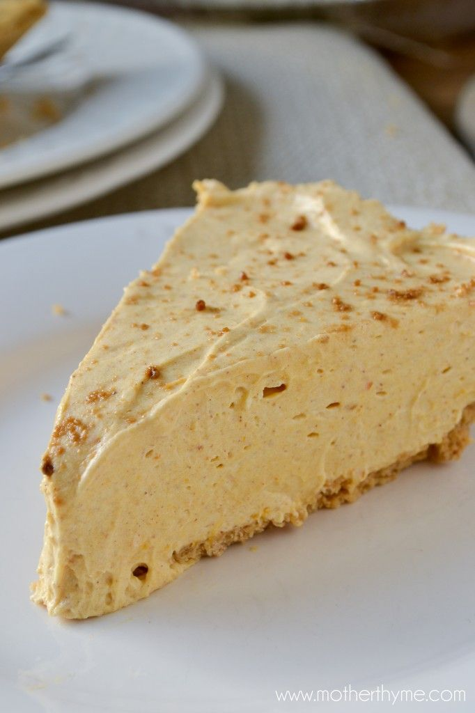 No-Bake Pumpkin Cheesecake...I am gonna make this with Splenda Brown Sugar Blend to make it low carb and leave off the crust!!!