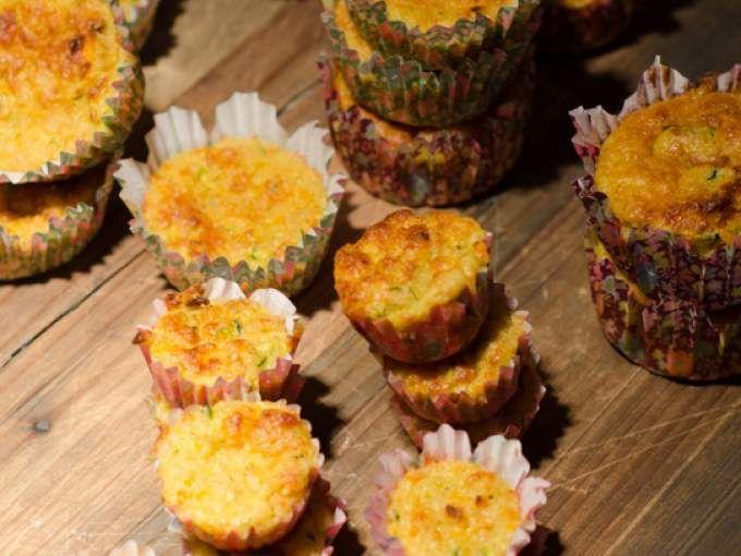 Mini muffins speziati al curry con carote e zucchine