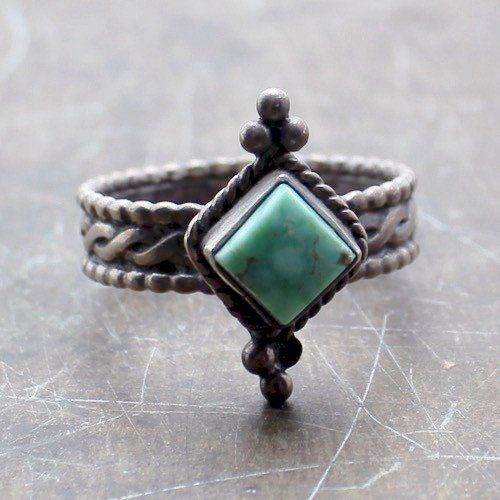 Good Bye Blue Sky Vintage Native American Ring - Child of Wild  - 2
