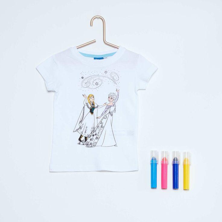 Maglietta da colorare 'Frozen - Il regno di ghiaccio' + pennarelli Infanzia…