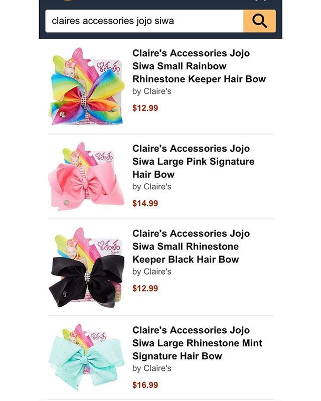 Some pieces from JoJos Bow Line with Claire's Accessories are available to buy on Amazon! Click the link in my bio or search for them on Amazon.com to purchase. #dancemoms #dancemoms1 #spoilers #dmos_siwa ✨ JoJo liked ✨