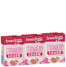 STRAWBERRY CRUSH   MILK   &   STRAWBERRY