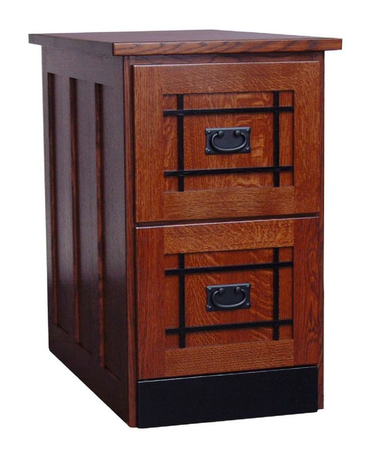 Luxury Mission File Cabinet 4 Drawer