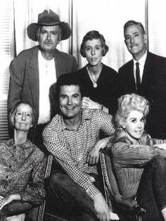 The Beverly Hillbillies cast -- Buddy Ebsen, Irene Ryan,  Max Baer, Jr., Donna Douglas, Raymond Baily and Nancy Kulp