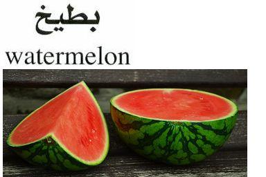 Watermelon  بـطيخ  (Beteekh ) - http://ift.tt/1HQJd81