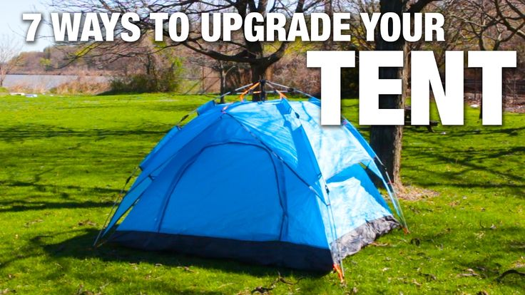 Here is what you'll need!  7 Ways To Upgrade Your Camping Tent  MATERIALS Foam squares Headlamp Jug of water Doormat Pool float Shoe organizer Candle Pool noodle   INSTRUCTIONS Cov ...