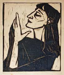 Erich Heckel (1883-1970)  Heckel is vooral bekend van zijn houtgravures. De leden van Die Brücke zagen de houtgravure als een uniek nationaal medium. Onder de invloed van etnische kunst en de houtgravures van Paul Gauguin namen ze een stijl aan die iets weg had van de vroege Duitse primitieven. Kirchner begon ermee maar Heckel was de beste graveur van de groep.