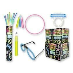 "44 Piece MONSTER PACK Glow Sticks by DDI. $7.08. Great for Parties. 44 Piece Glow Stick Pack. 44 Pieces - Monster Pack Glow Sticks  Includes 20 Glow Sticks This wholesale bulk cheap discount glow sticks Tube Contains: 4 - 9.5"""" Glow Sticks 6 - 8"""" Glow Sticks 2 - 6.5"""" Glow Sticks 2 - 1"""" Glow Sticks 5 - 1.75"""" Glow Sticks 1 - 2.5"""" Glow Sticks Makes Rings, Bracelets, Necklaces, Earrings, Pendant, Eyeglasses"" Case Pack 36 There are 44 total pcs in each glow stick con..."