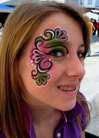 Beautiful face paint eye design