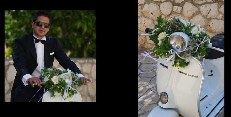 Vespa scooter wedding decoration
