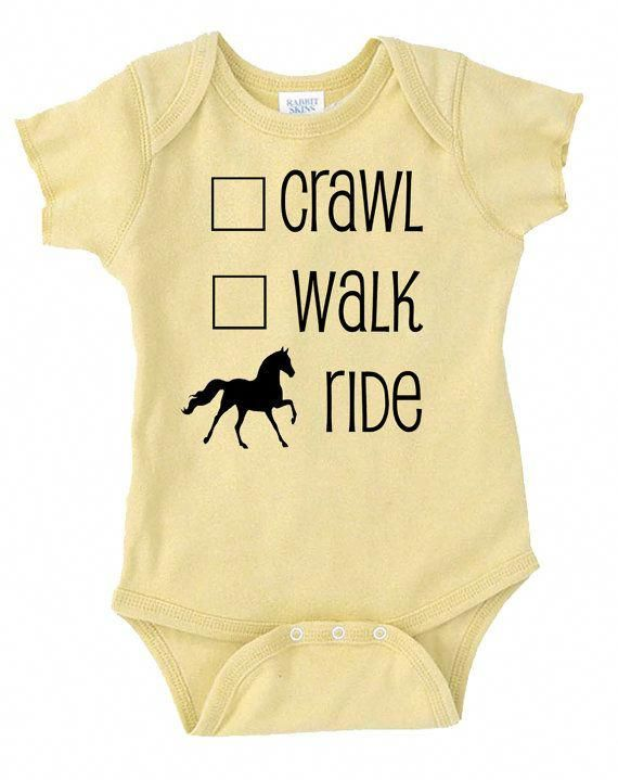 Crawl Walk Ride Horse Onesie für Babys von EquestrianCreations #horsefunny   – Horses
