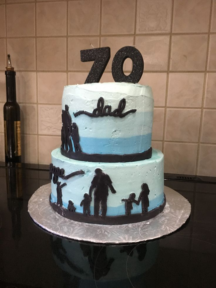 70th Birthday Cake Silhouette Cake Father S Day Cake