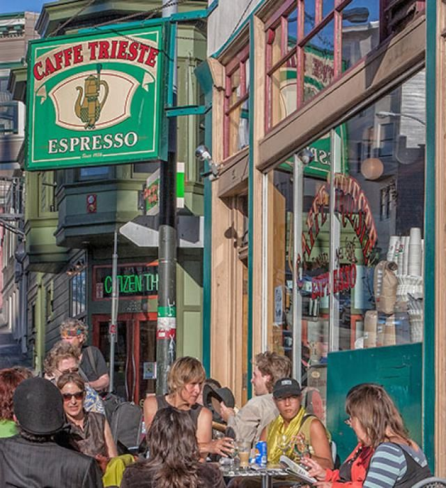 Self-guided walking tour of Francisco's North Beach neighborhood - things to see, where to stop, local history.