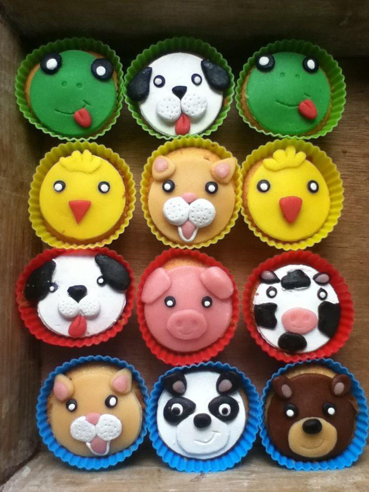 Dieren cupcakes