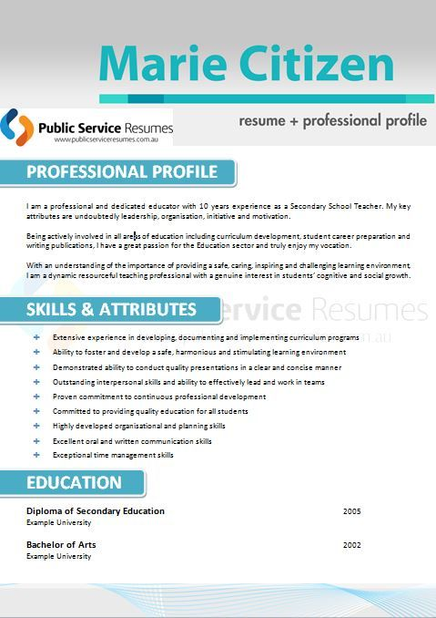 9 best Selection Criteria Writers images on Pinterest Author - public service officer sample resume