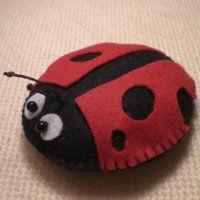 coccinella pannolenci - felt ladybug