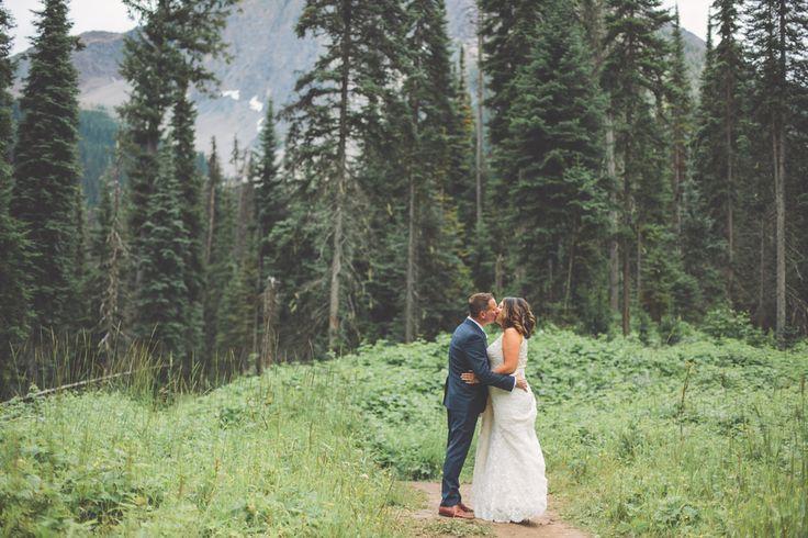 Jessica   Steven: Emerald Lake Wedding. Bride and Groom, Wedding Couple, Just Married