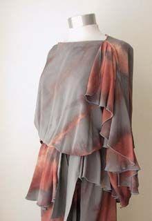 1970s Silk Dress