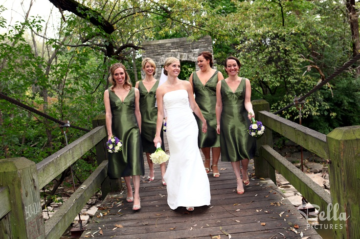Forest green bridesmaid dresses bridesmaids dresses for Forest green wedding dress