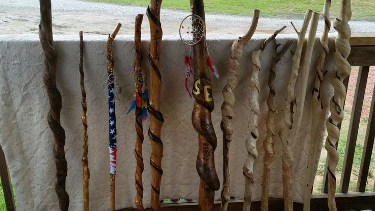 Walking sticks for sale some finished some ready to design you on way we also make dream catchers