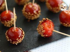 Tomates caramelizados con sésamo, Foto 3