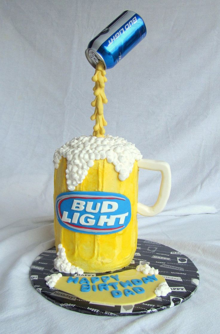 Bud Light Pouring Beer Can Cake  on Cake Central
