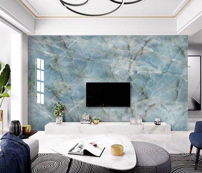 Pin By Indigo Wallpaper On Marble Wallpaper Blue Marble Wallpaper Marble Design Wall Decals For Bedroom