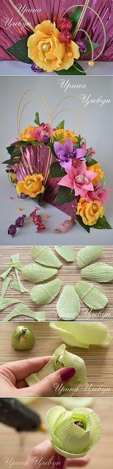 "МК ""конфетная роза"" от Ирины Цыбун."