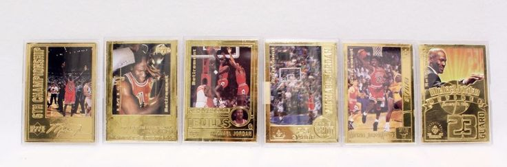 Upper deck Michael Jordan Gold Retirement 22k 5 Gold Card Basketball NBA Bulls #ChicagoBulls