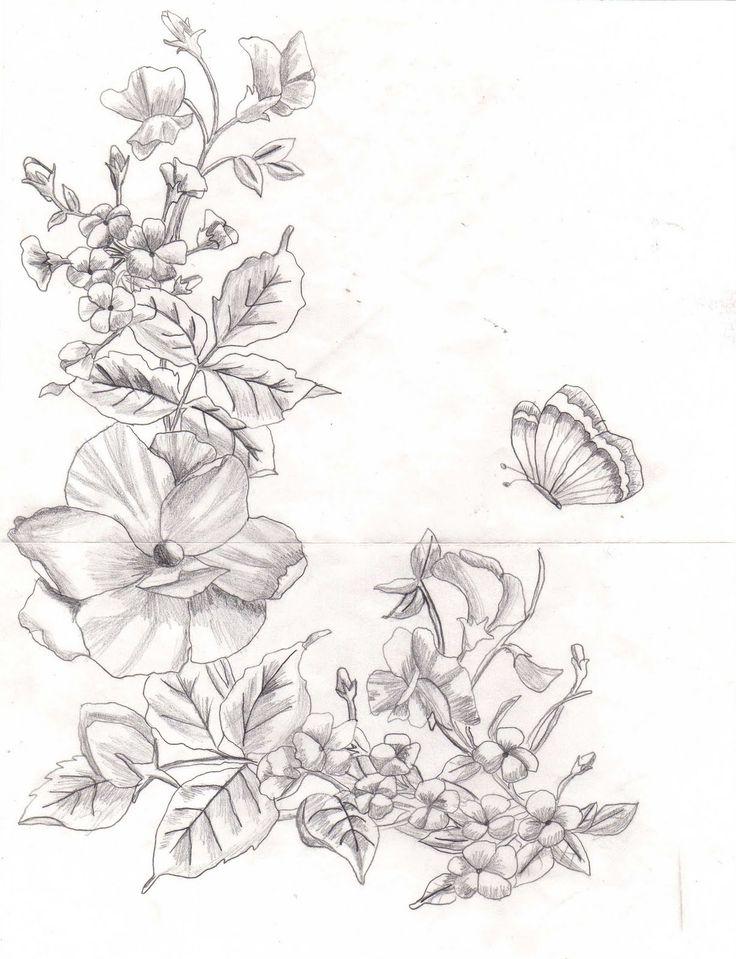Ms de 25 ideas increbles sobre Flores dibujadas a lapiz en